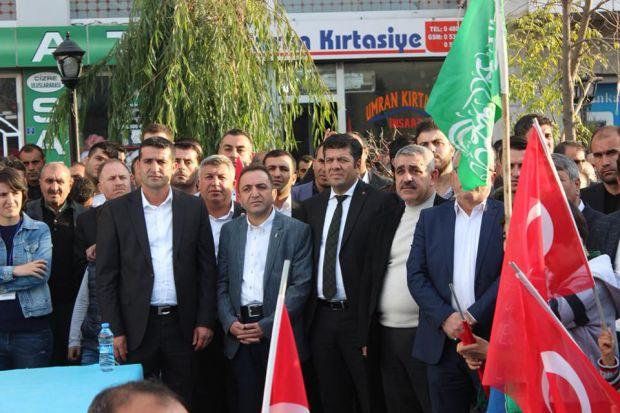 """KUDÜS'E ÖZGÜRLÜK İNSANLIĞA BARIŞ"" MİTİNGİNE KATILDIK"